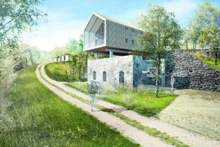 Le Bois basalte, un projet de hameau touristique écoresponsable financé par l'opération Auvergne Nouveau Monde