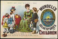 carte postale ancienne montrant une femme au foyer avec ses enfants