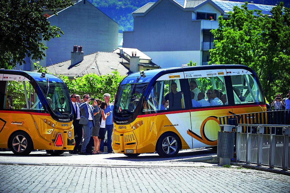 En Suisse, des navettes sans conducteur expérimentées en plein centre-ville