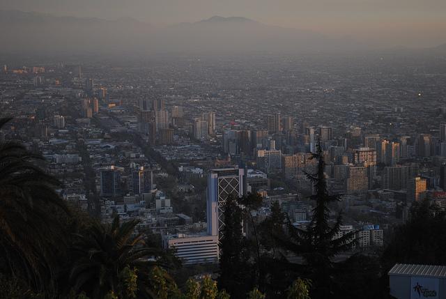 Le smog de la ville de Santiago