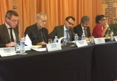 Jérôme Michel, Jean-Louis Bianco, Samuel Dyens, Jean-Laurent N Guyen Khac et Séverine de Sousa,  Assemblée de l'ANDGCDG Rouen 7 ocotbre 2016