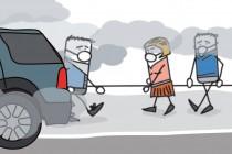 Pollution des voitures dans les villes