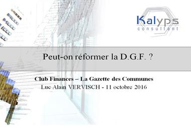 Peut-on réformer la DGF ?