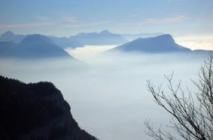 Le parc naturel régional du massif des Bauges, dans les Alpes.