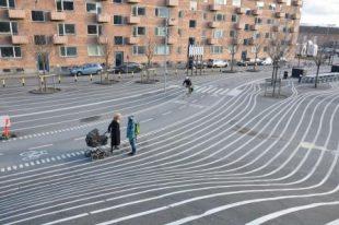Quartier réaménagé Superkilen Copenhague par Genre et Ville 2016