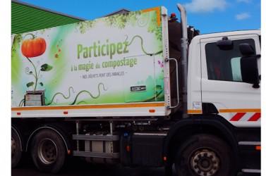 camion benne (communication sur)