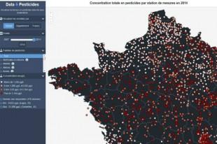 Copie d'écran du projet Data-pesticides