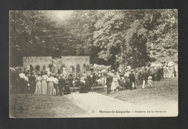 Théâtre de verdure à Marnes-la-Coquette, Archives départementales des Hauts-de-Seine