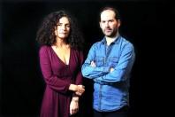 """Vincent Jarousseau et ValŽrie Igounet, auteurs de """"L'illusion nationale"""", Žditions les Arnes. 2016."""