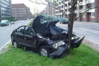 Accident de voiture securite routiere