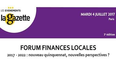 Forum annuel des finances locales 2017