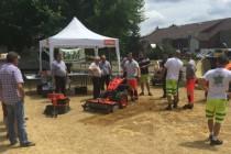 Avec l'aide des entreprises titulaires, le CDG40 a organisé plusieurs salons pour sensibiliser les communes au zéro phyto. Ici, à Roquefort, une des communes du département des Landes.