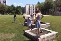 Un jardin mobile intergénérationnel dans le quartier de