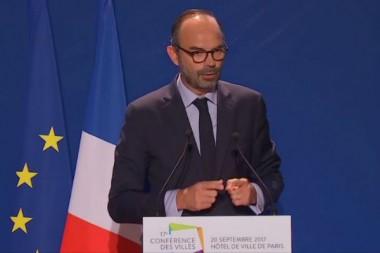 Edouard Philippe, le Premier ministre, le 20 septembre devant la Conférence des villes.