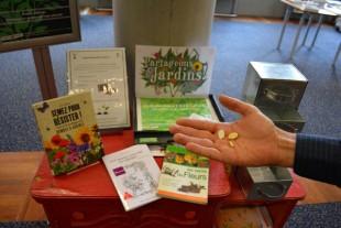 Grainothèque en bibliothèque ©Ville de Toulouse