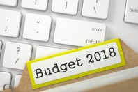 Card Index with Budget 2018. 3D.