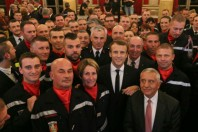 Macron pompiers