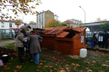 Un pavillon de compostage à Montreuil, en 2011