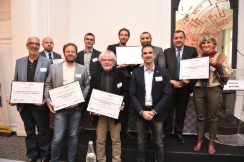 Les lauréats des deuxièmes trophées opendata, réunis le 16 novembre au Forum numérique de la Gazette des communes.