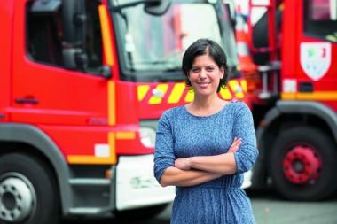 Tiphaine Oerlemans, responsable de la communication du Sdis de la Charente-Maritime (543 agents)