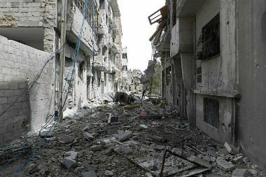 Syrie destruction Homs guerre