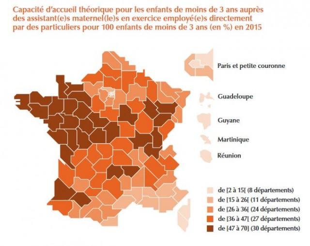 ONaPE - Drees (enquête Pmi, 31 décembre 2015), Acoss-Cnt Paje (2e trimestre 2015), Cnaf (Fileas – 31 décembre 2015), Menesr Depp (démographie départementale au 1er janvier 2015).