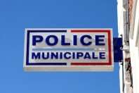 Enseigne d'un poste de Police Municipale