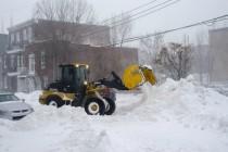 Tempête de neige à Montréal  27-12-2012  45 cm de neige sont tombés à Montréal, un record pour une seule journée.