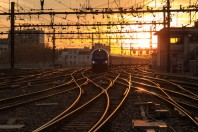 Train aux abords de la gare de Lyon-Perrache