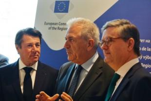 Christian Estrosi, Dimitris Avramopoulos et Julian King