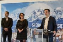 Eric Piolle, président de Gaz et électricité de Grenoble, lors de la conférence de presse du 9 mars 2018.