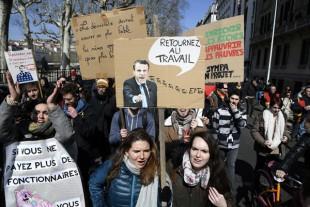 Manifestation des fonctionnaires à Lyon jeudi 22 mars 2018
