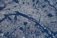Carte de Paris, vue par satellite.