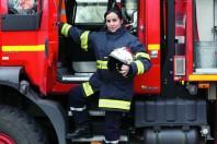 Adjudante-cheffe Hélène Gevaert, sapeur-pompier volontaire au centre de secours et d'incendie de la vallée de la Lys (Nord)