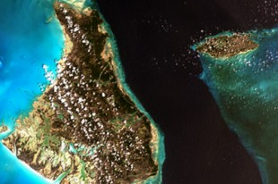 The Bahamas from Landsat satellite. Elements of this image furni