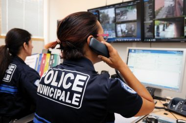 Police municipale CSUI (centre de supervision urbain intercommunal Evry) video