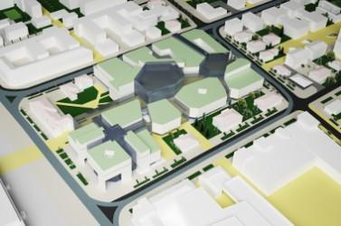 3D graphics of the urban environment. quarter