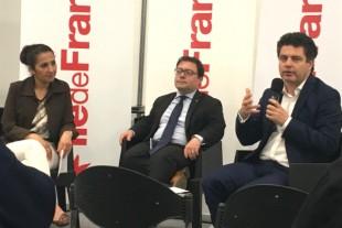 Farida Adlani, Pierre Deniziot et Vincent Roger ont présenté les actions de l'Ile-de-France en matière d'accessibilité au salon Autonomic le 13 juin.