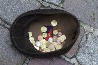 euro - faire la manche