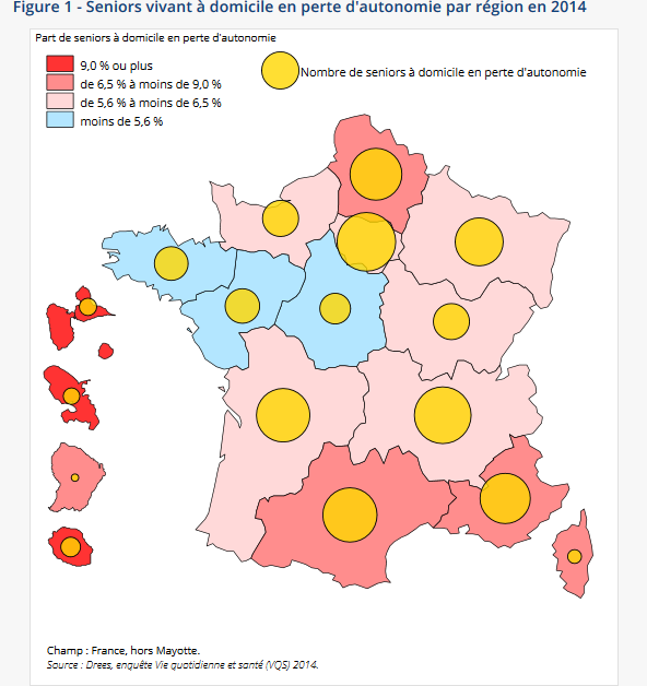 Carte de France vieillissement