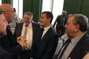 Gérald Darmanin à la rencontre des élus d'Abbeville, lundi 25 juin.