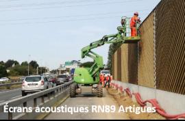 écrans acoustiques RN89 Artigues