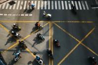 scooter moto rue vue