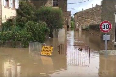 Inondation Aude Orbieu Villedaigne