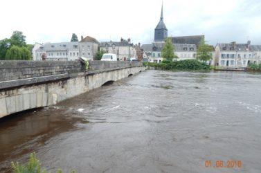 En juin 2016, Nemours, en Seine-et-Marne, a connu la plus forte crue du Loing de son histoire.