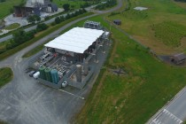Vue aérienne  de la centrale électrique de Trifyl