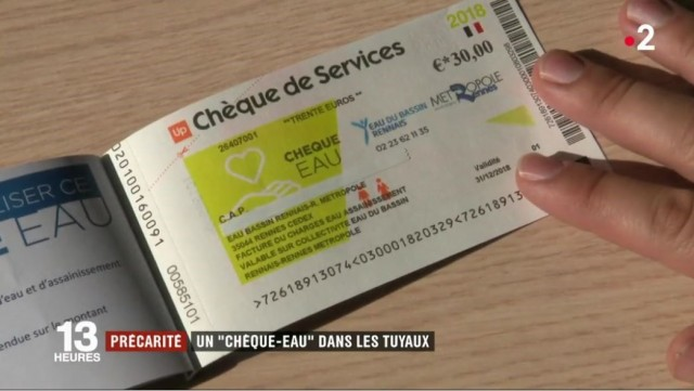 CHEQUE DE SERVICE FRANCE 2
