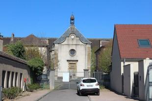Une des entrées de l'hôpital Saint-Gabriel, Autun, Saô™ne-et-Loire