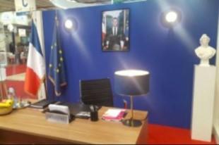 Le bureau éphémère du ministère de la Cohésion des territoires au Salon des maires et des collectivités locales (SMCL) le 20 novembre 2018