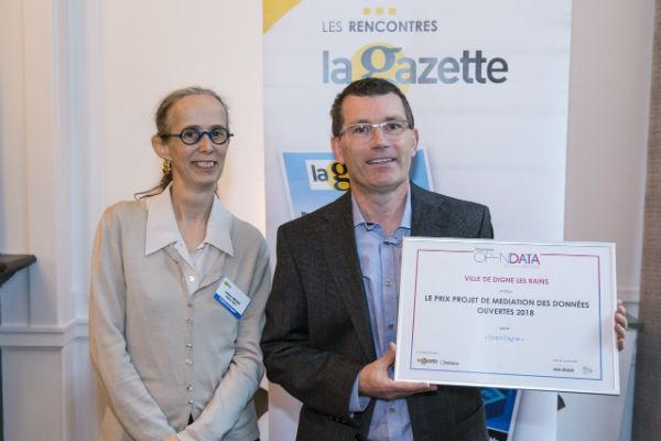 Cyrille DE VILLELE, Chargé de mission open data, avec laurence Comparat, présidente d'Opendata france